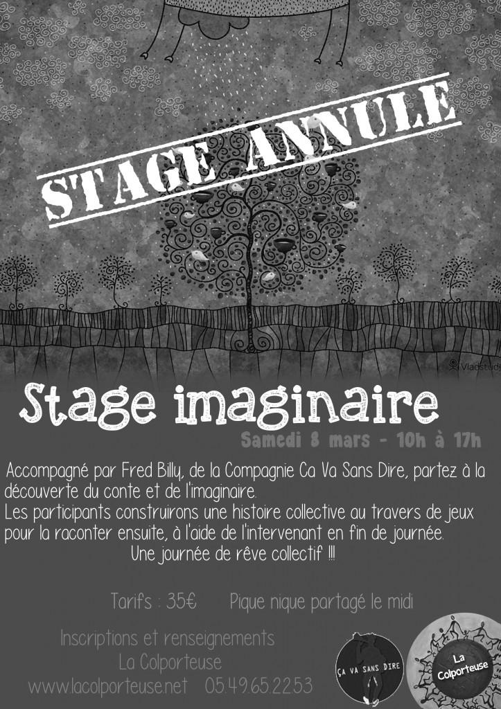 Stage imaginaire annulé