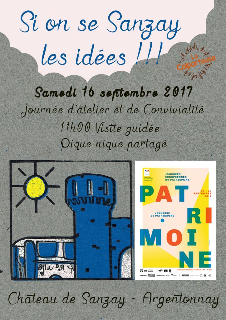 Affiche JMP Château Sanzay 16sept17